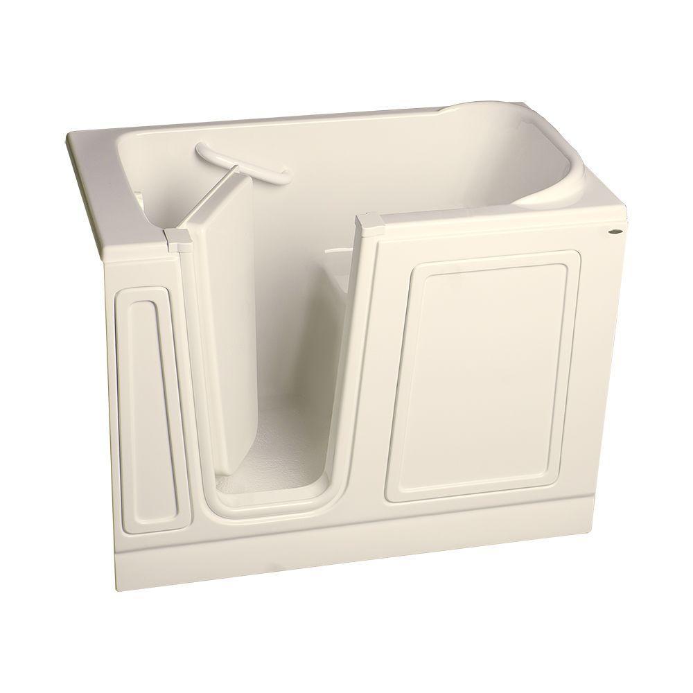 American Standard Acrylic Standard Series 51 in. x 30 in. Walk-In Soaking Tub in Linen