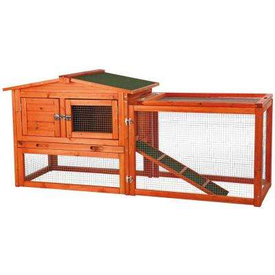 5.1 ft. x 1.7 ft. x 2.3 ft. Extra-Small Rabbit Enclosure with Outdoor Run Hutch