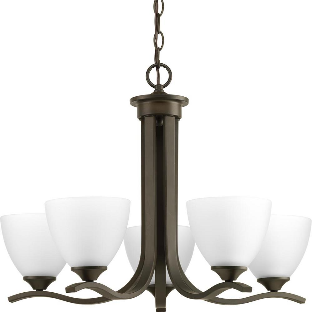 Progress Lighting Laird Collection 5-Light Antique Bronze Chandelier with Shade