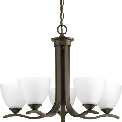 Laird Collection 5-Light Antique Bronze Chandelier with Shade