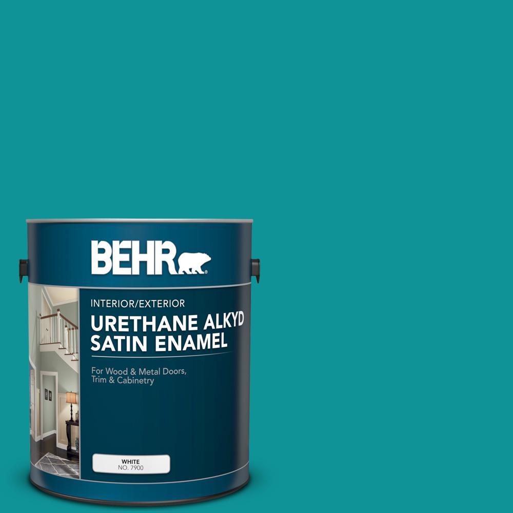 BEHR 1 gal. #P460-6 Paradise Landscape Urethane Alkyd Satin Enamel Interior/Exterior Paint