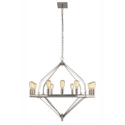 Illumina 12-Light Polished Nickel Pendant Lamp