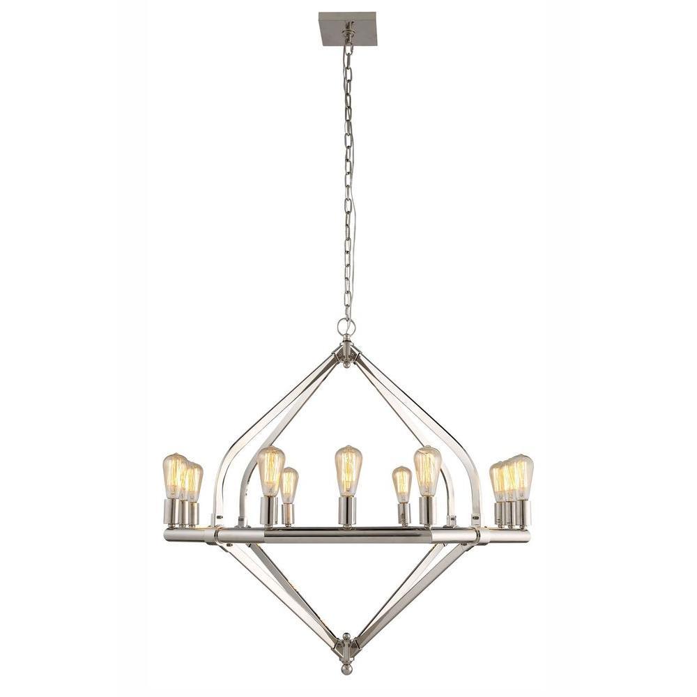 Illumina 12-Light Polished Nickel Pendant Lamp