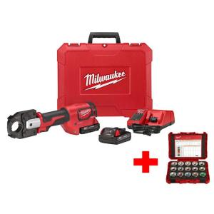 Milwaukee M18 18-Volt Lithium-Ion Cordless Force Logic 600 MCM Crimper Kit with Free 600... by Milwaukee