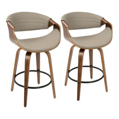 Fabulous Faux Leather Arms Gray Bar Stools Kitchen Dining Onthecornerstone Fun Painted Chair Ideas Images Onthecornerstoneorg