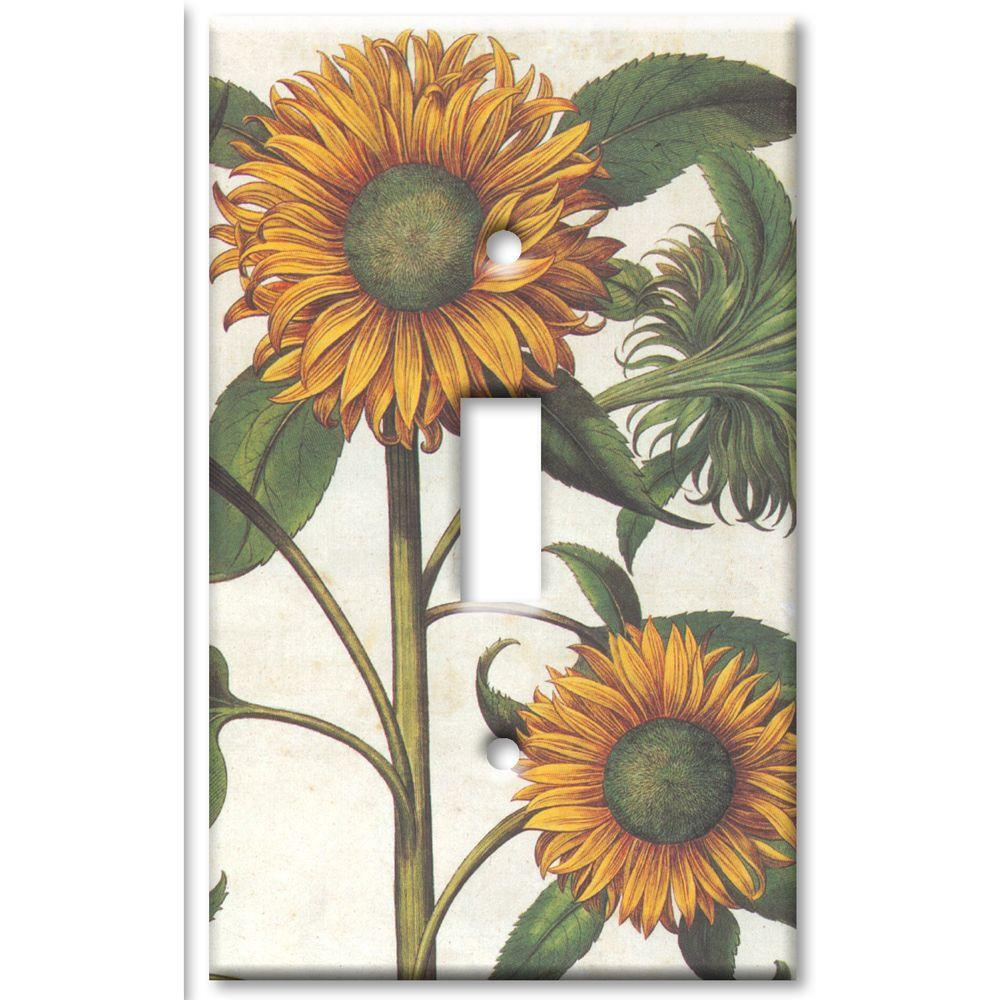 Art Plates Sunflowers Oversize 1 Wall Plate