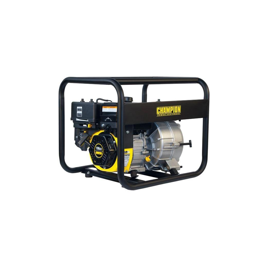 Champion Power Equipment 3 in  Gas-Powered Semi-Trash Water Transfer Pump