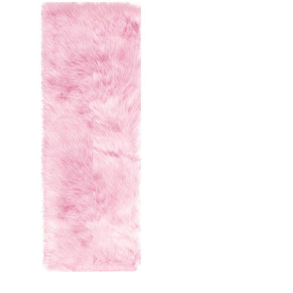 Home Decorators Collection Faux Sheepskin Pink 2 ft. 6 in. x 8 ft. Rug Runner