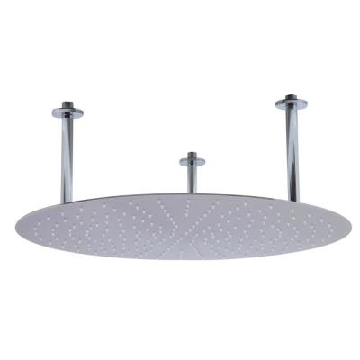 1-Spray 24 in. Single Ceiling Mount Fixed Rain Shower Head in Brushed Stainless Steel