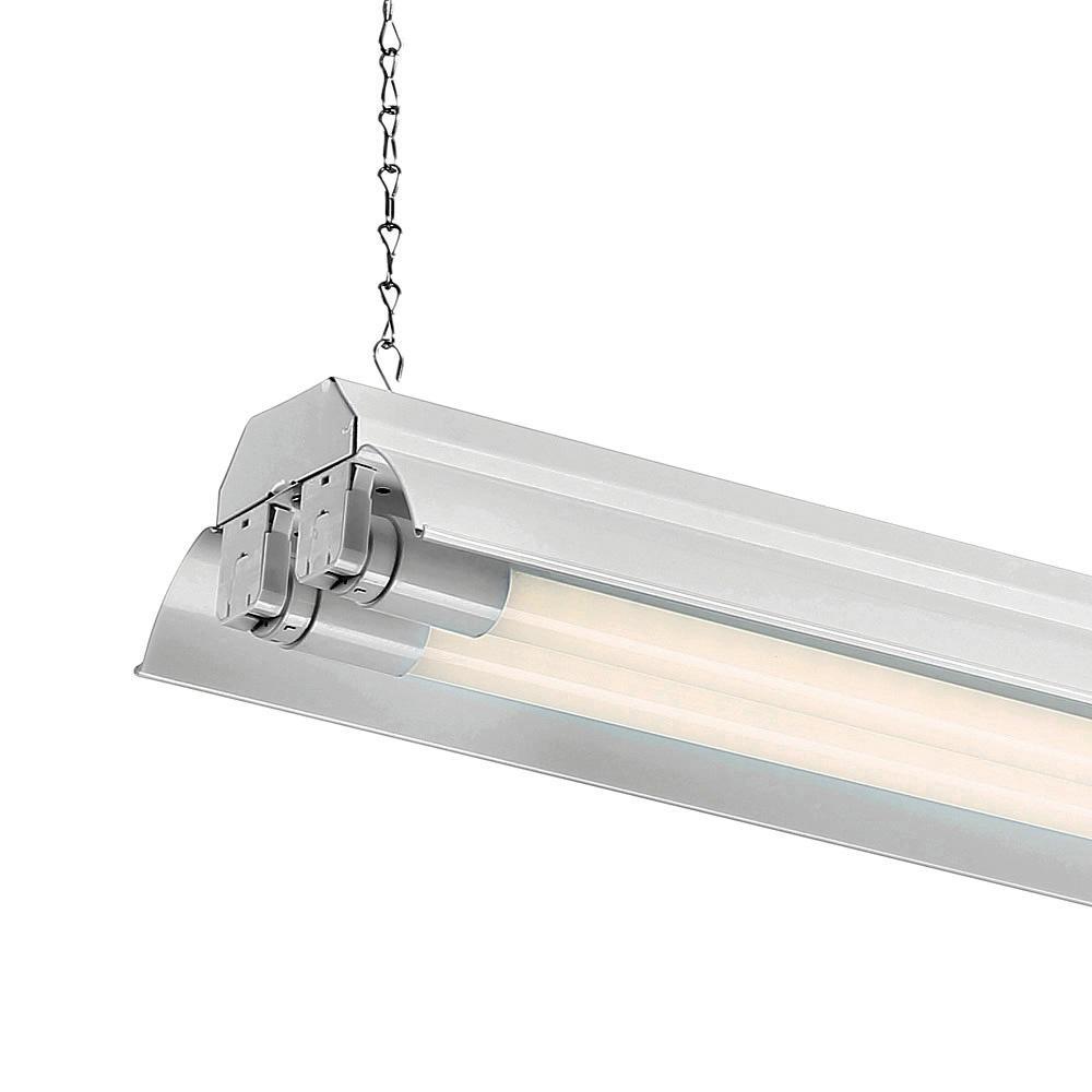 EnviroLite 4 ft. White LED Shop Light with Two T8 LED 4000K Tubes (12-Pack)