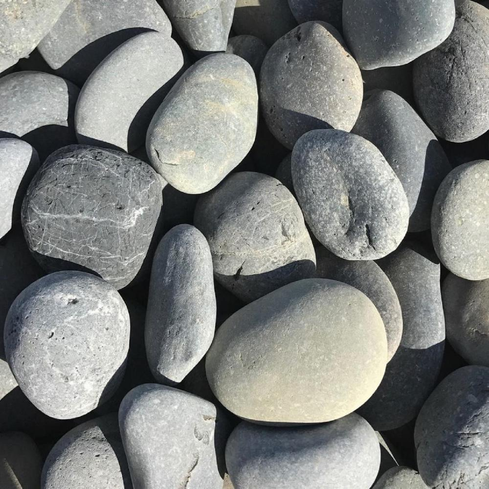 Butler Arts 0.50 cu. ft. 2 in. - 3 in. Black Mexican Beach Unpolished Pebble