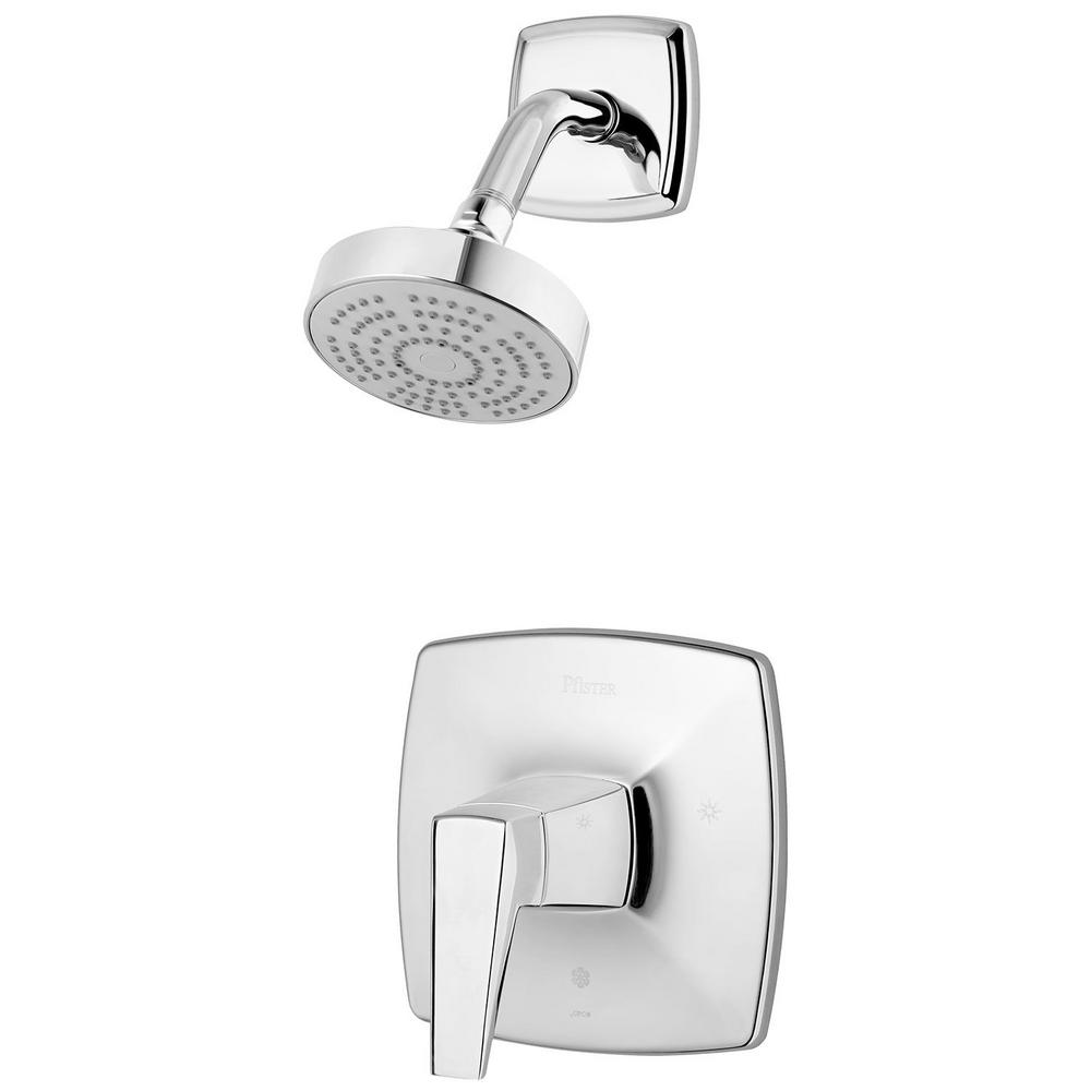 Pfister Arkitek 1-Spray 1-Handle Shower Only Trim in Polished Chrome (Valve Not Included)
