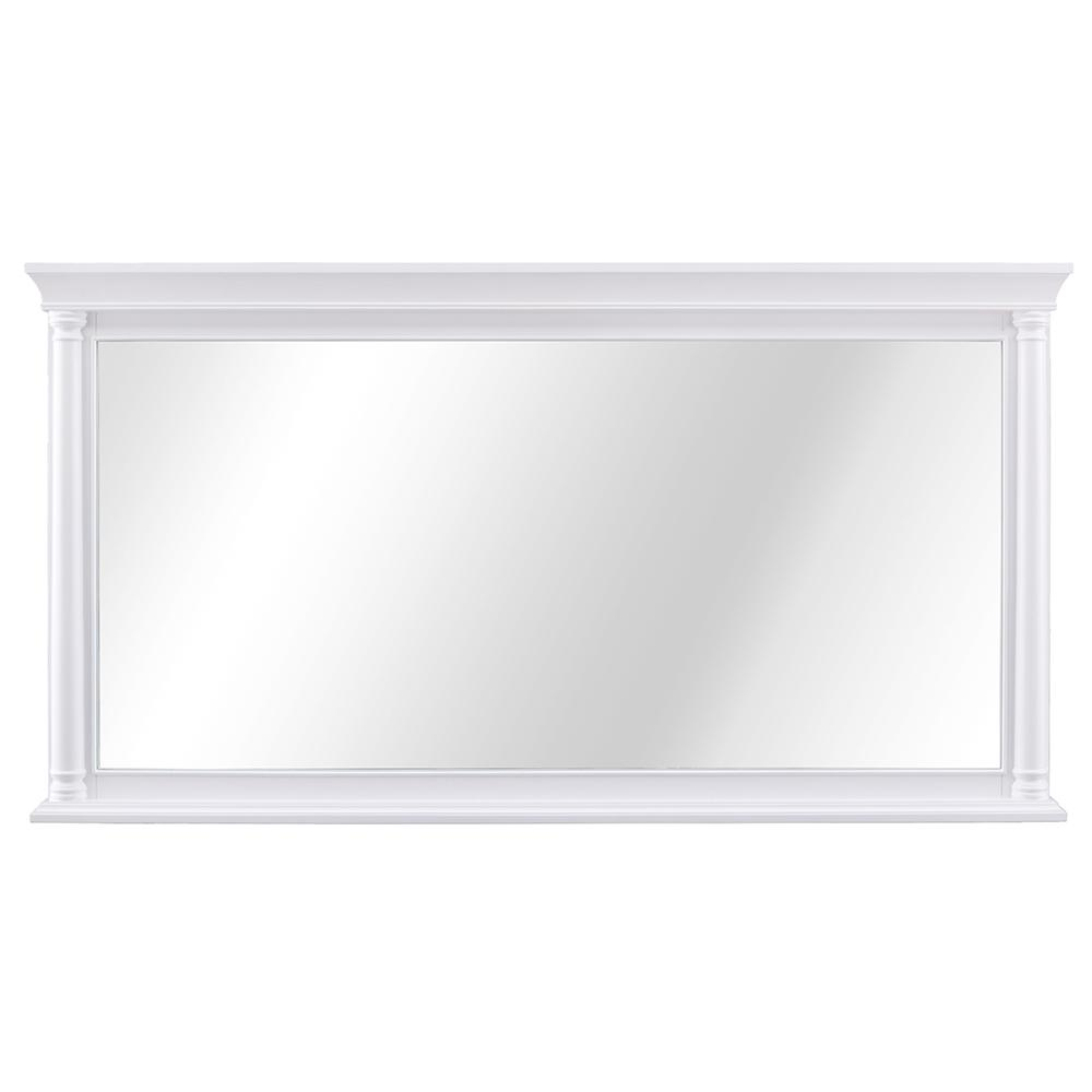 Home Decorators Collection Stousse 60 in. W x 32 in. H Framed Wall Mirror in White