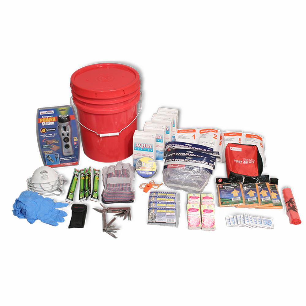 4-Person 3-Day Deluxe Emergency Kit in a Bucket