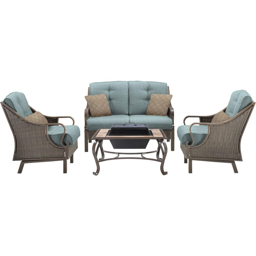 Cambridge carlisle 4 piece all weather patio conversation for All weather homes