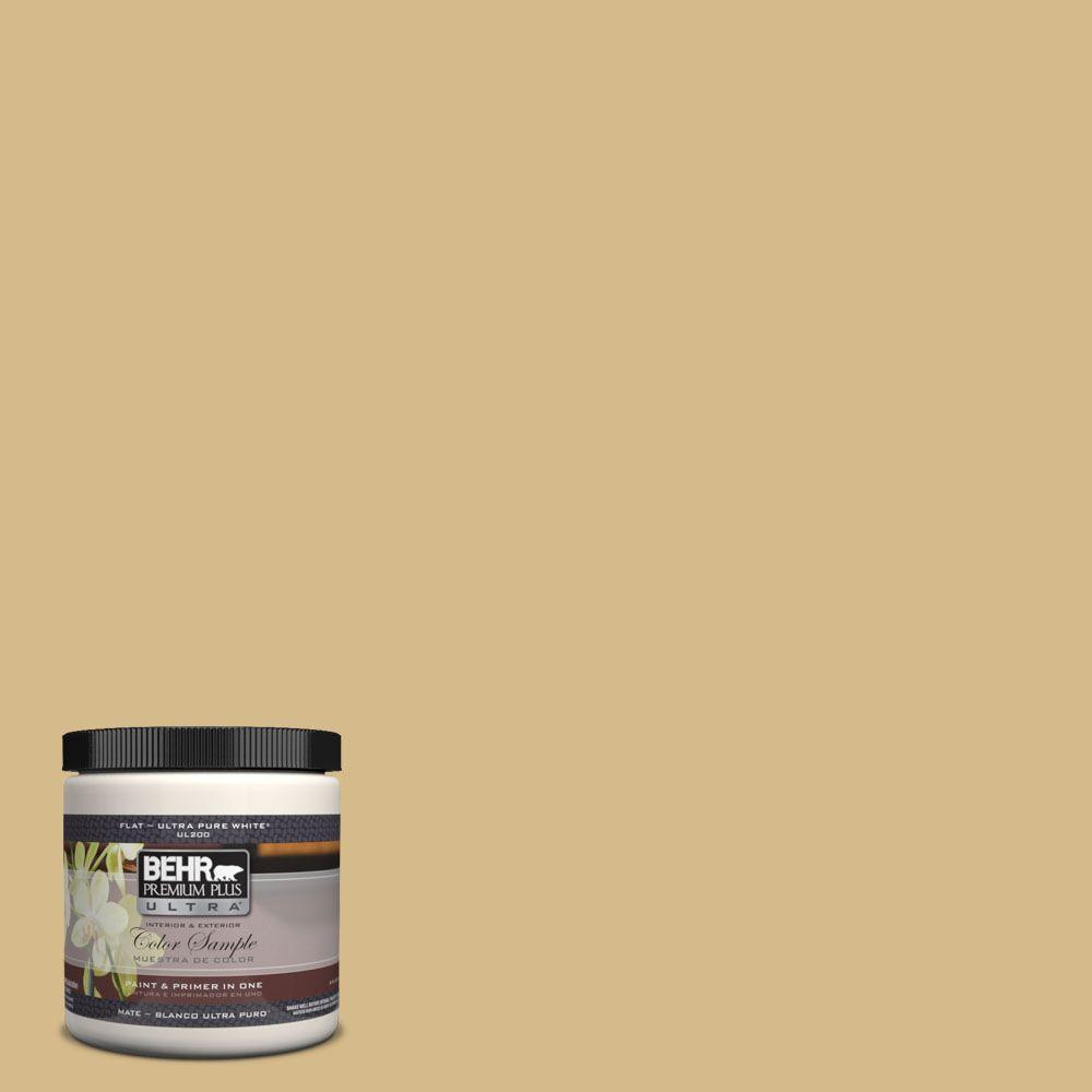 BEHR Premium Plus Ultra 8 oz. #350F-5 Camel Interior/Exterior Paint Sample