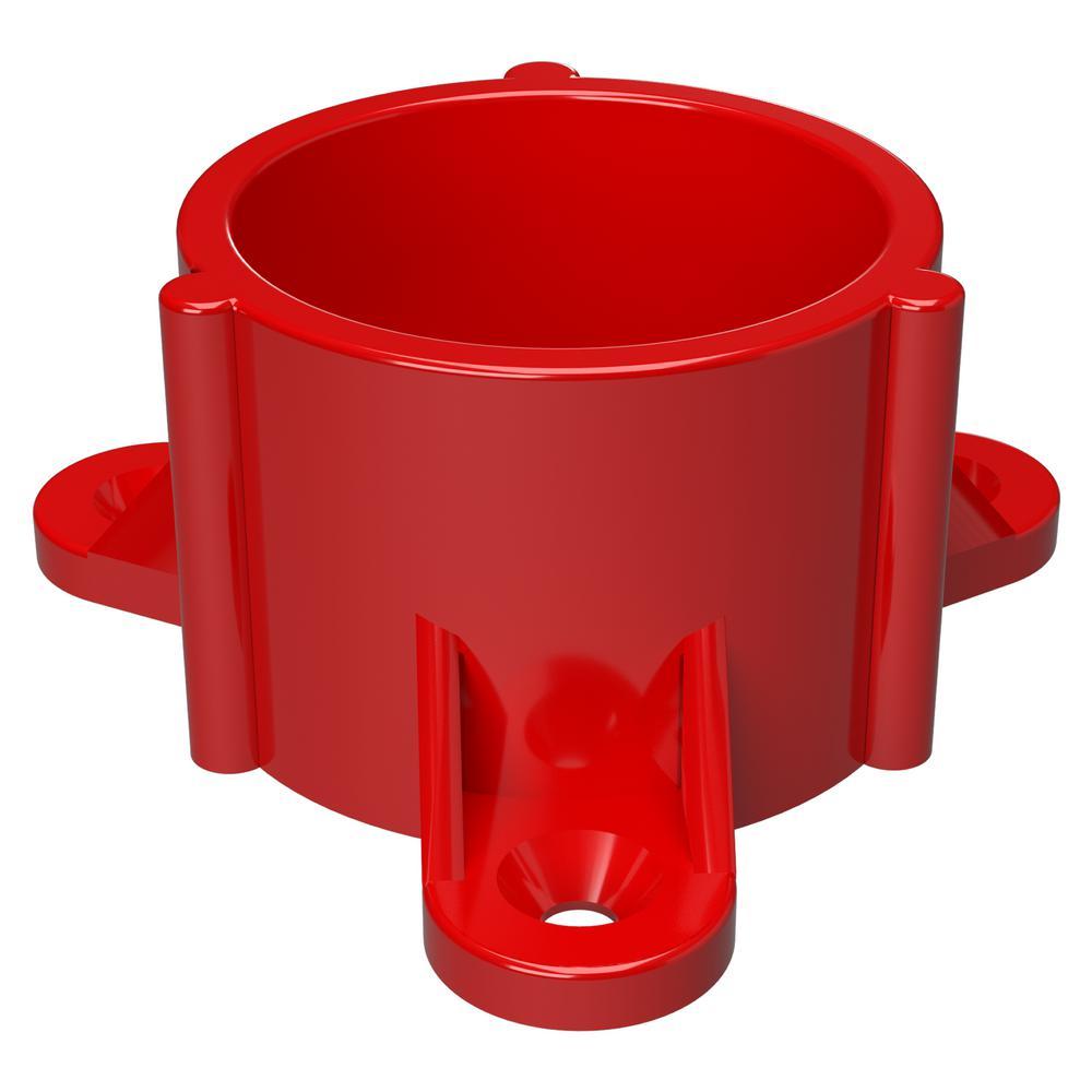 1-1/4 in. Furniture Grade PVC Table Screw Cap in Red (10-Pack)