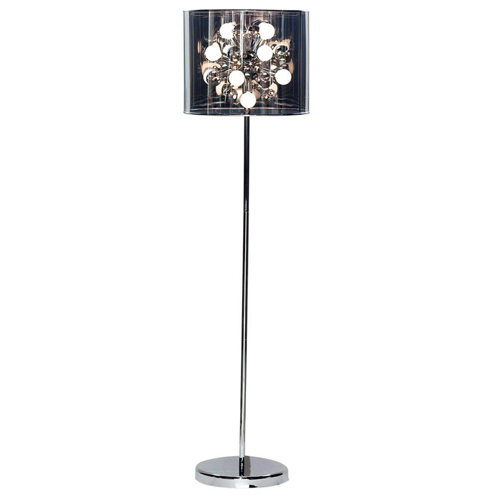 Adesso starburst 60 in chrome floor lamp 3261 22 the for Tecton chrome floor lamp