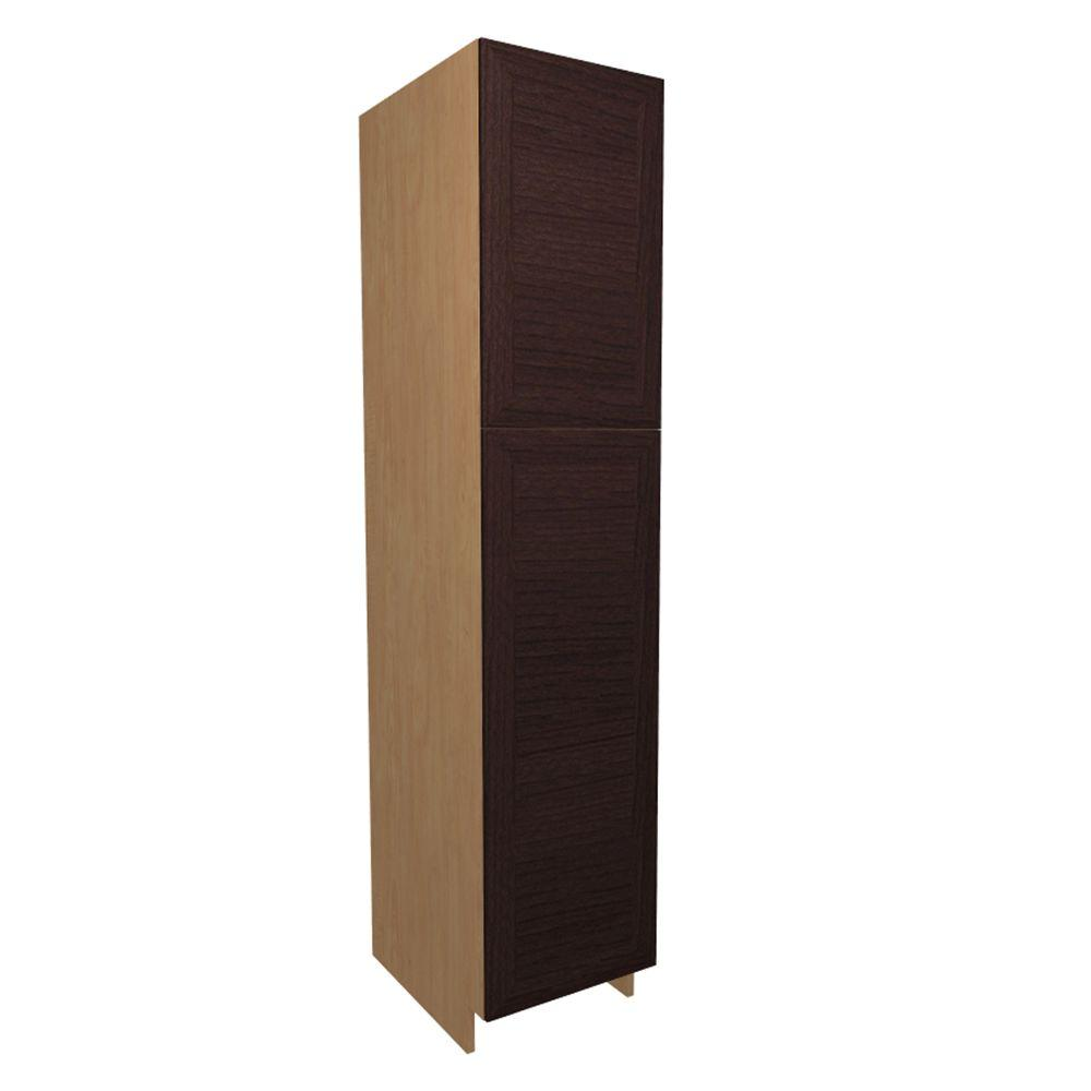 Home Decorators Collection Dolomiti Ready to Assemble 18 x 84 x 21 in. Pantry/Utility Cabinet with 2 Soft Close Doors in Espresso, Espresso Melamine