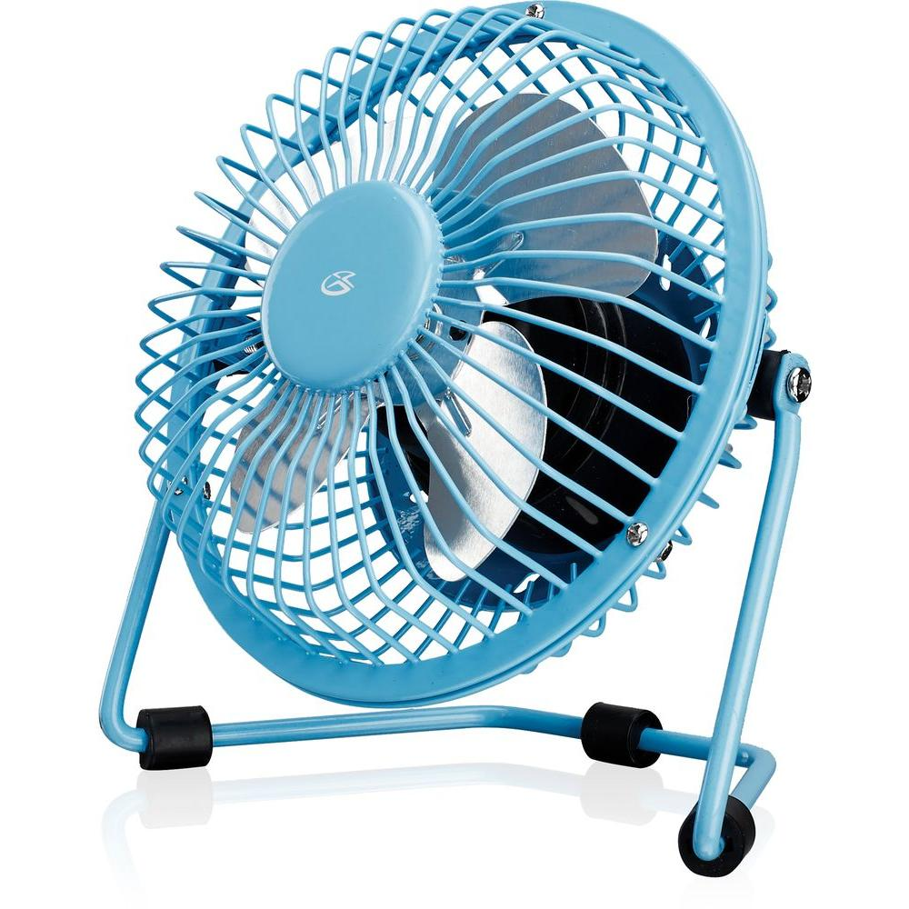 Gpx 4 In Usb Desk Fan Blue