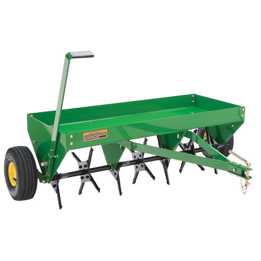 Brinly-Hardy Tow Behind Aerator Spreader Combination 40 in Lawn Steel Frame