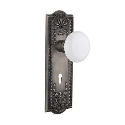Meadows Plate with Keyhole Single Dummy White Porcelain Door Knob in Antique  Pewter - Best Rated - Pewter - Antique - Door Hardware - Hardware - The Home