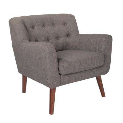 Mill Lane Chair and Loveseat Set in Cement Fabric with Coffee Legs (2 per Carton)