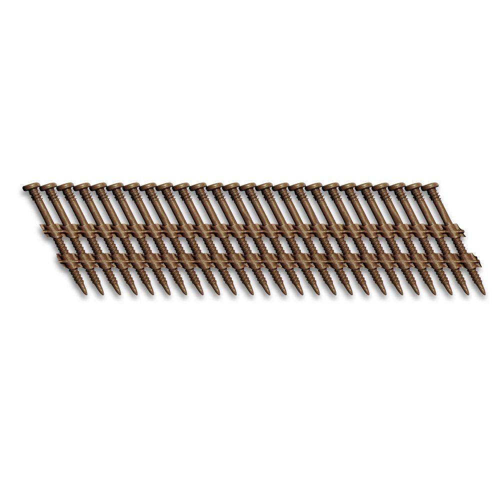 2 in. x 1/8 in. 20-Degree Brown Plastic Strip Square Head Nail Screw Fastener (1,000-Pack)