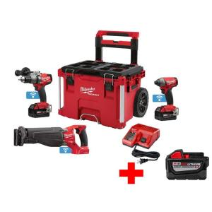 Milwaukee M18 FUEL ONE-KEY 18-Volt Lithium-Ion Brushless Cordless Combo Kit (3-Piece) w/ Free PACKOUT Case and... by Milwaukee