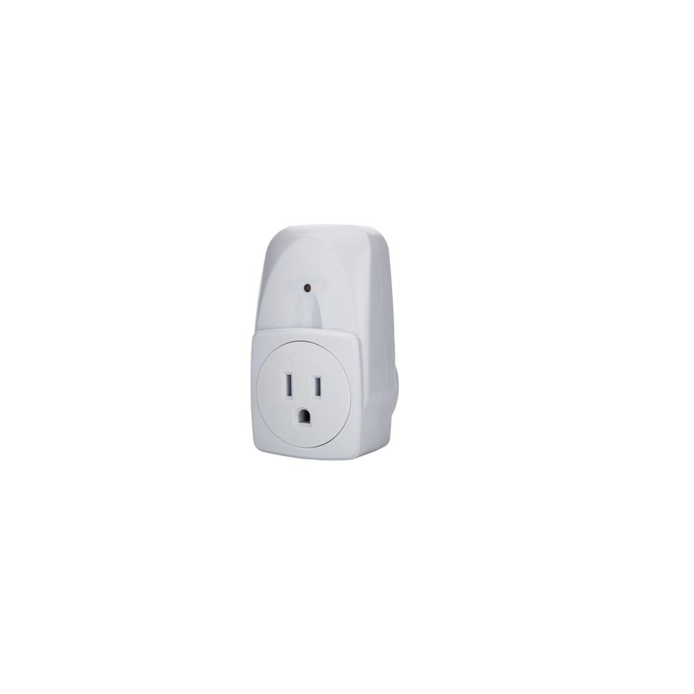 Indoor Remote controlled 3-Receivers 1-Grounded Outlet Plug-In Timer