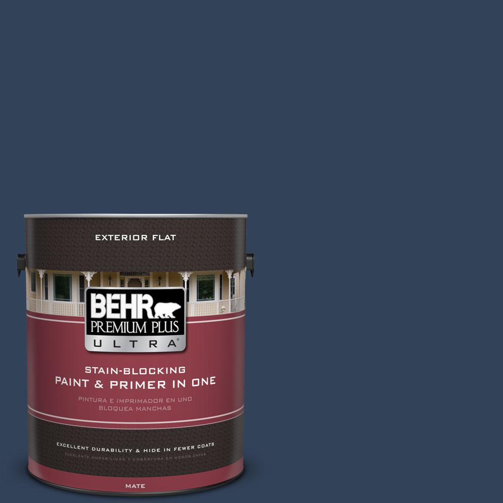 1-gal. #590F-7 Peaceful Night Flat Exterior Paint