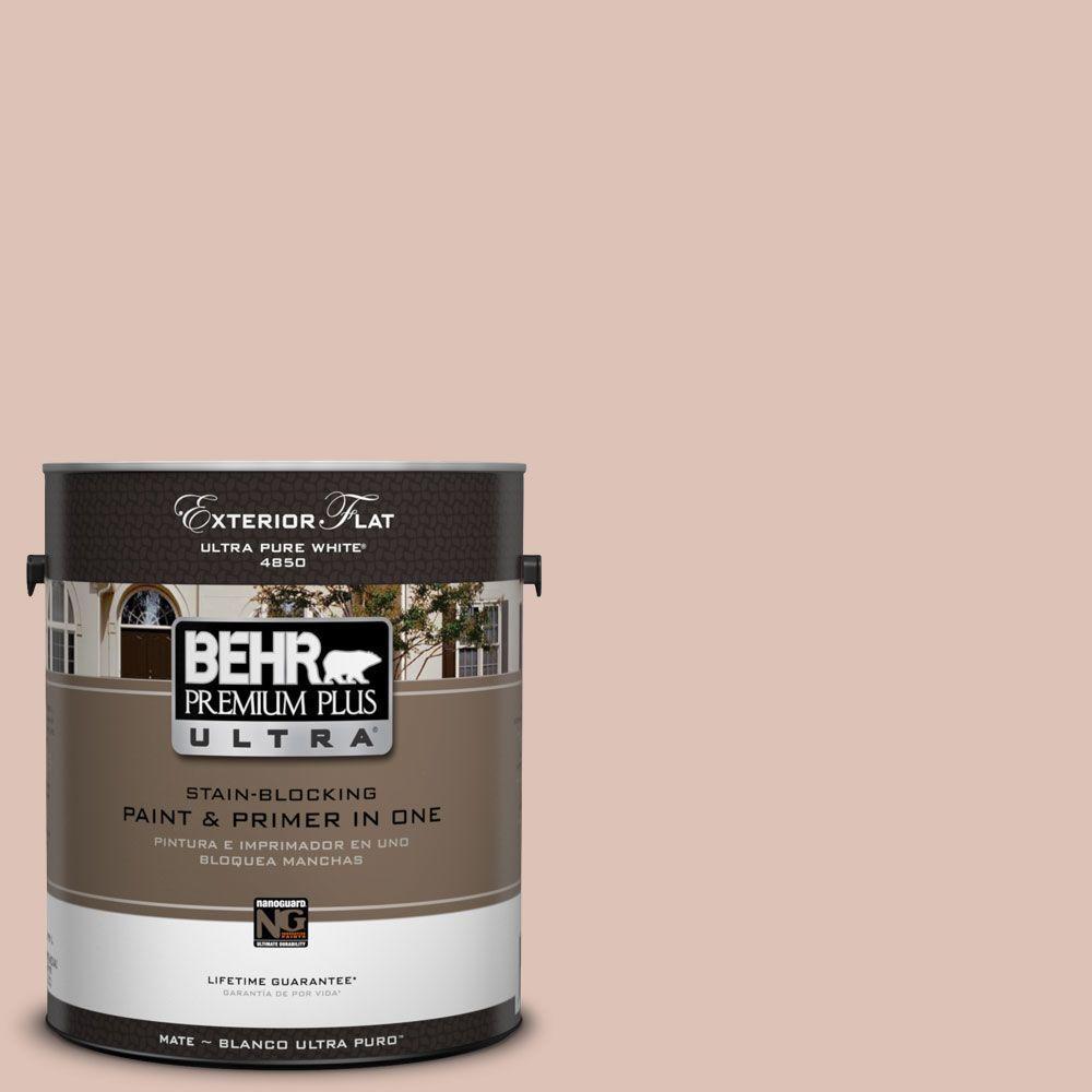 BEHR Premium Plus Ultra 1-Gal. #UL120-15 Coral Stone Flat Exterior Paint