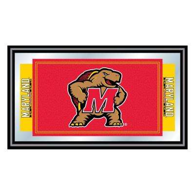 Maryland University 15 in. x 26 in. Black Wood Framed Mirror