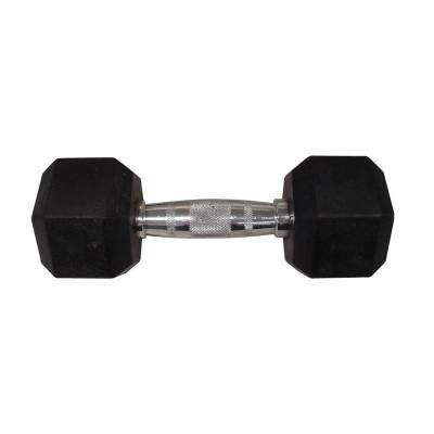 20 lbs. Rubber Hex Dumbbell