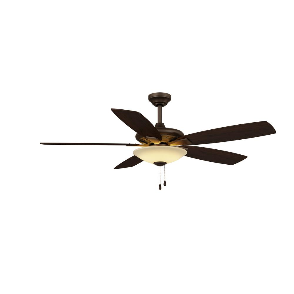 Hampton bay menage 52 in integrated led indoor low profile oil hampton bay menage 52 in integrated led indoor low profile oil rubbed bronze ceiling fan mozeypictures Choice Image