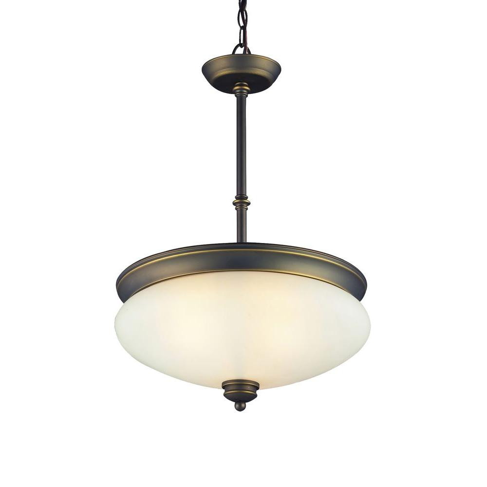 Tulen Lawrence Collection 3-Light Olde Bronze Pendant-DISCONTINUED