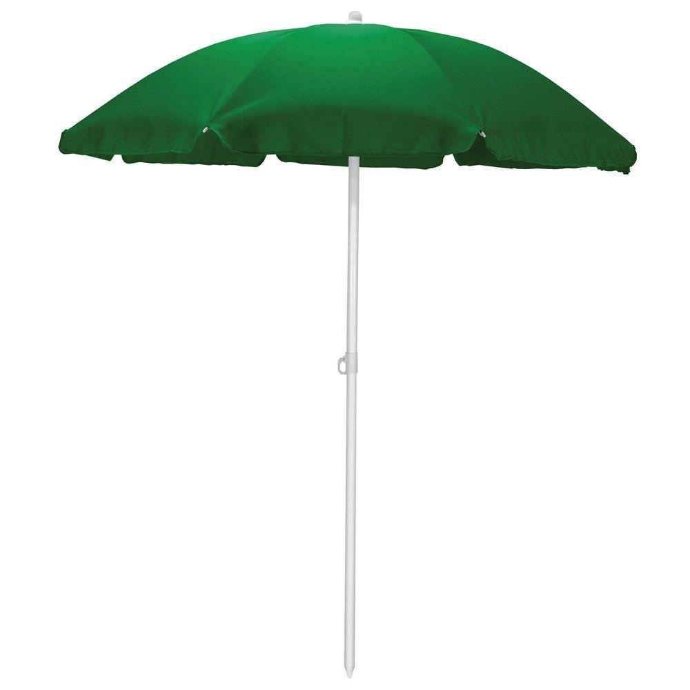 5.5 ft. Beach Patio Umbrella in Hunter Green