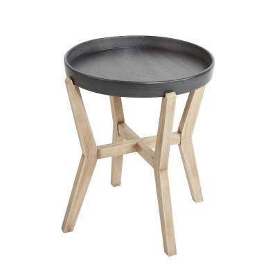 Alex Natural and Gunmetal Accent Table