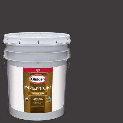 5-gal. #HDGCN65D Onyx Black Flat Latex Exterior Paint