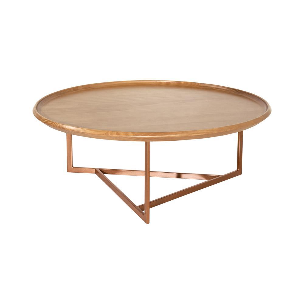 Luxor Javitz 32 In Cinnamon Medium Round Wood Coffee Table 2544hd1 The Home Depot
