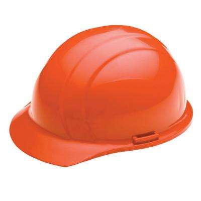 Liberty 4 Point Plastic Suspension Mega Ratchet Cap Hard Hat in Hi Viz Orange