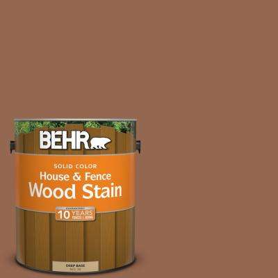 1 gal. #240F-6 Sable Brown Solid House and Fence Wood Stain