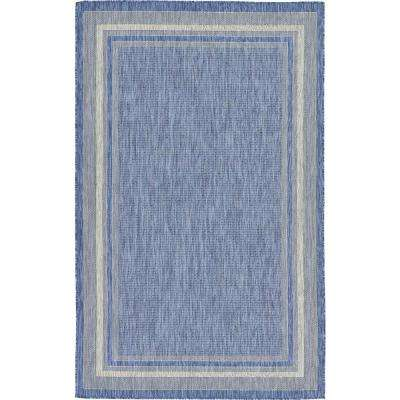 Outdoor Blue 5 ft. x 8 ft. Area Rug