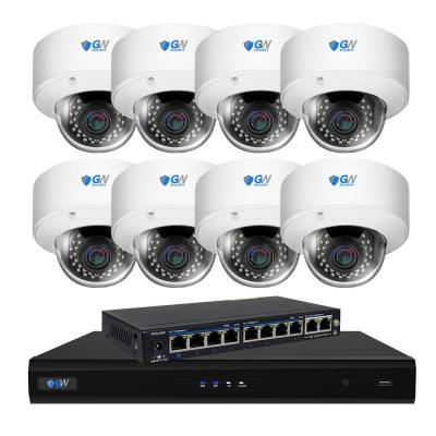 8-Channel with POE Switch H.265 5MP Camera 2.8 to 12 mm Varifocal Zoom Lens 130 ft. Night Vision Digital WDR 2TB HDD