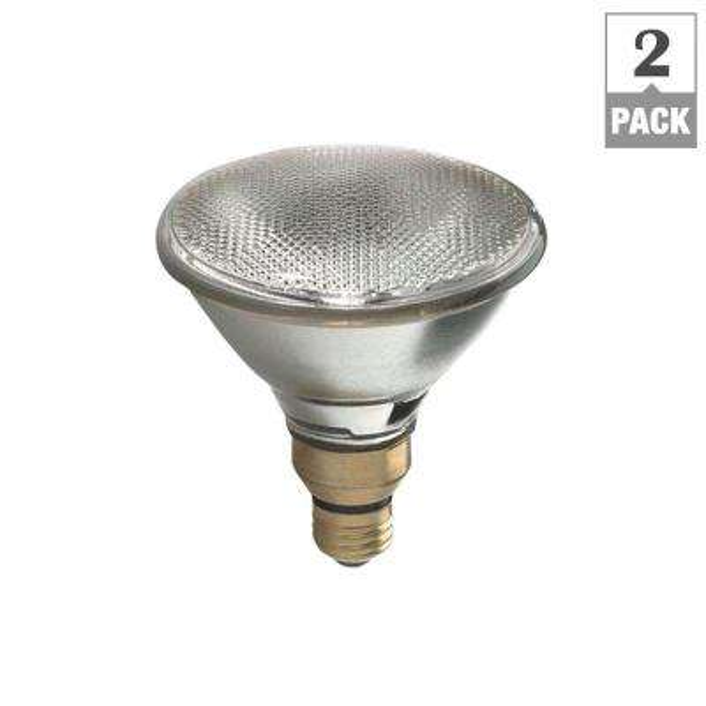 100W Equivalent Halogen PAR38 7-Year Long Life Flood Light Bulb (2-Pack)