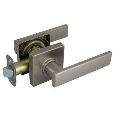 Westwood Satin Nickel Hall/Closet Passage Door Lever with Square Rose