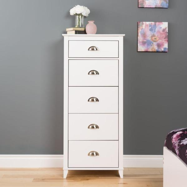 Prepac Yaletown 5-Drawer White Chest WDBR-1204-1