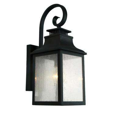 Morgan 3-Light Imperial Black Outdoor Wall Mount Lantern