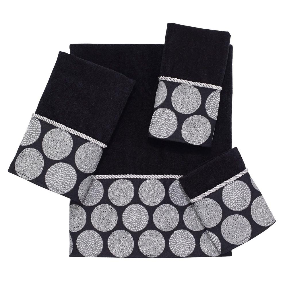 Avanti Linens Dotted Circles 4 Piece Bath Towel Set In Black 038706