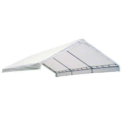 1830 White Canopy Replacement Cover for 2 in. Frame FR Rated
